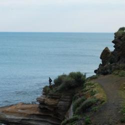 Les falaises noires du Cap d'Agde