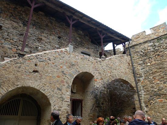 Visite du château, la cour intérieure.